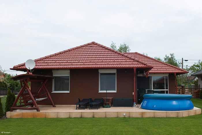 Tondach Twist tetőcserép piros