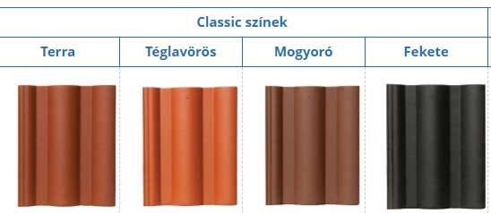 Leier Toscana tetőcserép classic színekben