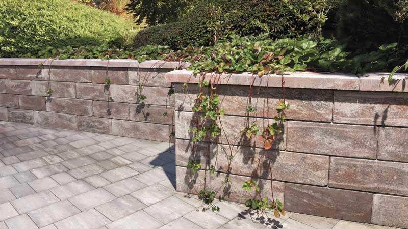 Semmelrock Asti Colori kerítés borvörös-fekete