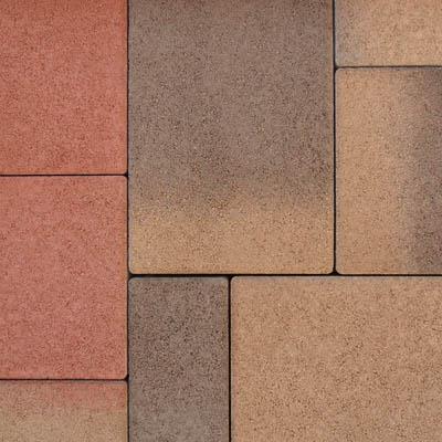 Semmelrock Citytop kombi térkő vörös-barna