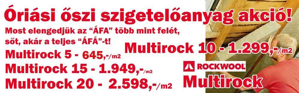 Rockwool Multirock ár
