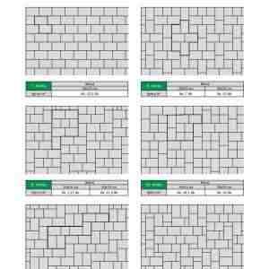 Semmelrock La Linia térkő lerakási minták